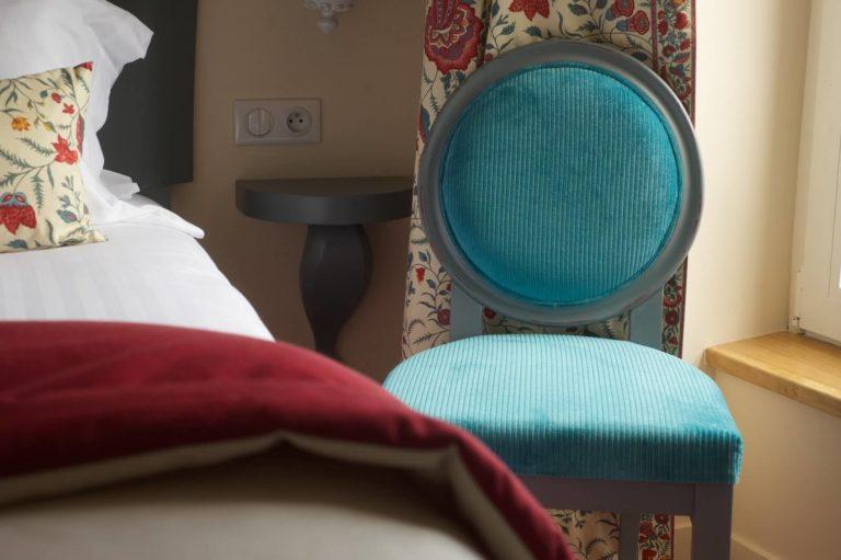 Hotel des trois chateaux - détail chambre - design R.Clévier